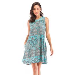 4f7f733718ec New fashion Women's dress Spring and Summer 2019 Expansion Amazon wish 2009  pop-up sleeveless jacket element printed jacket dress