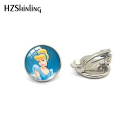 $enCountryForm.capitalKeyWord Australia - 2019 New Fashion Silver Bronze Cartoon Cinderella Cute Character No Pierced Earrings Clip Glass Pendants Jewelry