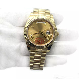 Luxury Men Watch 18k Australia - Luxury 18K Gold President Day-Date Sapphire Cystal Geneva Men Watches Automatic Mechanical Movement Male Wrist Watch