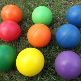 $enCountryForm.capitalKeyWord Australia - 6.3cm 7cm Balls Plush Sponge Candy Color Foaming Toys Pet Snatch Ball Interactive Play Novelty Items