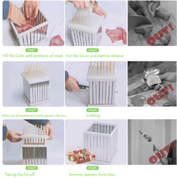 $enCountryForm.capitalKeyWord NZ - Free shipping ABS Plastic + Stainless Steel Kebab Maker Box Rapid Wear Meat Make 64 Skewers One Time BBQ Barbecue Tool