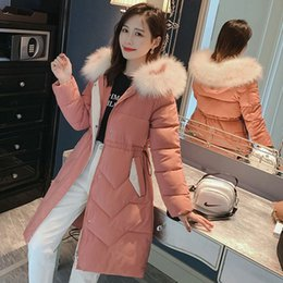 Wholesale dress black white men suit resale online - Suit dress Long Coltsfoot Season Colour Hair Lead Self cultivation Thickening Down Cotton Overknee Waist Cotton padded Jacket