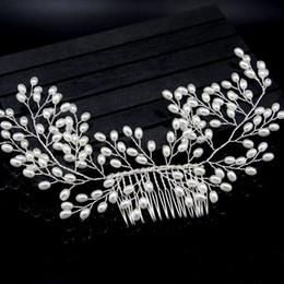 Hair pin comb clip online shopping - 1PC Pearl Women Hair Combs Wedding Hair Accessories Pin Rhinestone Tiara Bridal Clips Crystal Crown Bride Jewelry