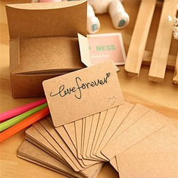 Blank Gift Label Australia - 100 Pcs lot business cards blank Kraft Paper Card Message Memo Party Gift Thank You Cards Label Bookmarks Learning Cards