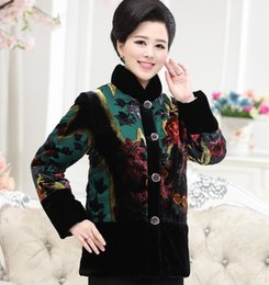 Floral Parka Australia - Single breasted cotton Plus size warm fashion XL-4XL new 2016 autumn and winter women coat long-sleeved floral parkas