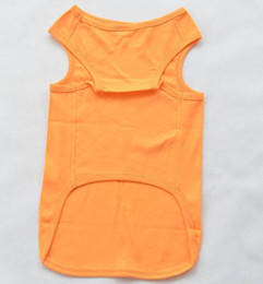 Wholesale eco friendly t shirts for sale – custom Eco Friendly Large Dogs Spring Summer Vest Clothes Big Dogs Fashion Solid Color T Shirt Apparel Pet Costume Xs Xl