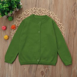 girls batwing tops Canada - Baby Boys Girls Cardigan Autumn Cotton Sweater Top Baby Children Clothing Boys Girls Knitted Cardigan Sweater Kid Spring Clothes
