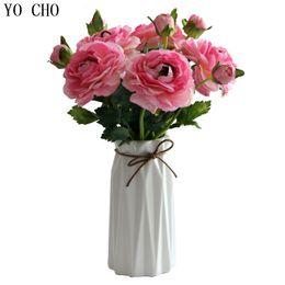 $enCountryForm.capitalKeyWord Australia - Cheap Peony Artificial Flowers Leaf Roses Silk Flower Christmas Home Diy Bridal Bouquet Wedding Decoration Rose YO CHO