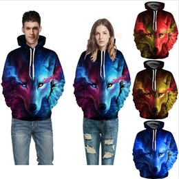 sweatshirt hoodies Canada - 2019 New Designer hoodie sweatshirt mens clothing Wolf 3D Hoodies Sweatshirts Men Women Hoodie Casual Tracksuits Fashion Hoodie Coats