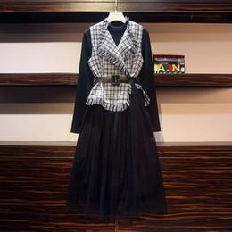 $enCountryForm.capitalKeyWord Australia - 2019 Plus Size Spring Winter Dress Suit New Style Elegant Dress Sets Slim Fashionable 2 Piece Sets
