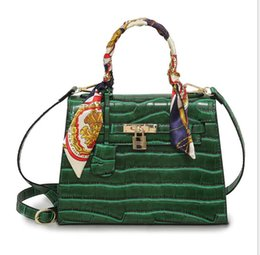 Hand Bag For Girl Leather Australia - New Brand High Quality 2 Colors Women Patent Leather Alligator Fashion Designer Shoulder Ladies Big Hand bags for girls 2019 Whole sale