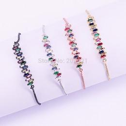 $enCountryForm.capitalKeyWord Australia - 10pcs New Simple Micro Pave Cz Crystal Connector Charm Adjustable Chain Macrame Women's Bracelet For Gifts J190703
