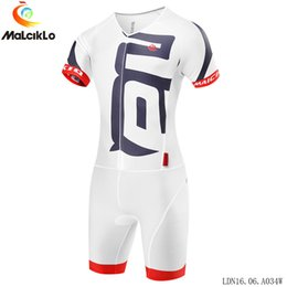 bike suit white NZ - Triathlon Cycling Jersey Luxury Swimwear MTB Bike Jersey Men Running Swimming clothing Ropa Ciclismo Maillot clothes suit