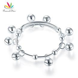 $enCountryForm.capitalKeyWord Australia - Solid 990 Silver Bells Bangle Bracelet Baby Kids Children Gift Adjustable Size CFB8003 Dropshipping Service Available