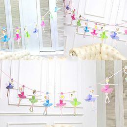 $enCountryForm.capitalKeyWord Australia - 10pcs pack Ballerinas Pull Flags Ballet Banner Baby Shower Anniversary Happy Children's Day Birthday Party Decorations Supplies SH190723