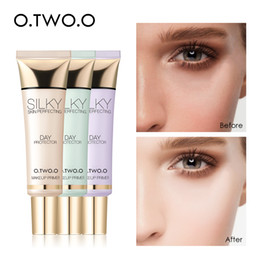 evening nails Australia - O.TWO.O Makeup Primer Brighten Even Skin Tone Concealer Invisible Pores Moisturzing Long Lasting Oil Control Make Up Base 25ml
