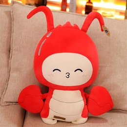 Short Plush Lovely New Imitation Crayfish Doll Doll Funny Activity Gift Girl Stretch Pillow Plush Toy from real good toys manufacturers