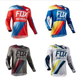 Fox wear online shopping - Cycling downhill fox jersey cycling wear hoodie racing long sleeve motorcycle suit custom new style Rapha Jerseys