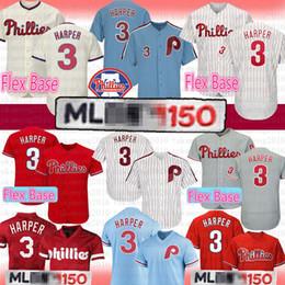 Maillot 3 Bryce Harper Philadelphia Phillies 150th Flex Base Hommes Maillot 3 Harper Maillot Rétro Majestic Alternatif Cool Base Base Jerseys