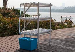 Vente en gros Kit de culture hydroponique Système de jardinage horizontal 108 sites de plantes 12 tuyaux 3 couches 5V pompe + minuteur