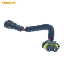 $enCountryForm.capitalKeyWord Australia - FEELDO Car 9005 9006 9012 Male To H11 Female Auto LED HID Headlight Wiring Cable Connector Plug Socket Wire Adapter #6092
