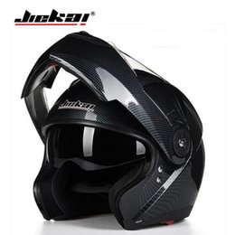 knights helmet NZ - 2019 New Knight Safety Protection JIEKAI Flip Up Motorcycle Helmets Double lens Open Face Motorbike Helmet of ABS with PC visor