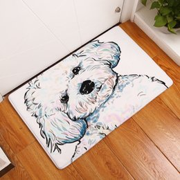 painted floor mats NZ - Cartoon Style Cute Painting Dogs Print Carpets Anti-slip Floor Mat Outdoor Rugs Decoration Welcome Mats for Home Front Door