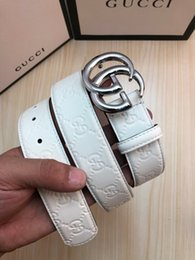 $enCountryForm.capitalKeyWord Australia - The original single-layer leather inner lining top layer cowhide cream frosted bottom, Mens Belt Authentic Official Belt With Box