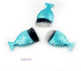 $enCountryForm.capitalKeyWord Australia - LOSUNNY 3 Pcs Sets Single Small Fish Bottom Brush Mermaid Tail Makeup Brush Beauty Fiber hair perfume perfumes fragrances for women
