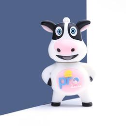 $enCountryForm.capitalKeyWord Australia - Usb Flash 4gb 8gb 16gb 32gb 64g Milk Cow Cartoon Pen Drive Green U Disk Animal Memory Stick Machine Pendrive