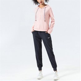 yoga pants jacket UK - Womens Designer Tracksuits Fashion Tracksuits Womens Hoodies Luxury Casual Running Yoga Brand Hooded Zipper Jackets + Jogger Pants 2032800V