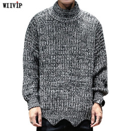 dc4a794b637 2019 New Pullover Sweater 2018 Autumn Winter Loose Pullovers Men V-Neck  Fashion Solid Men Knitwear 353