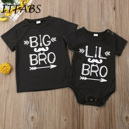 216a4c41227 Baby Brother Shirts NZ - New Infant Baby Boy Big Little Brother Matching  Big Short Sleeve