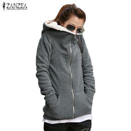 $enCountryForm.capitalKeyWord Australia - Zanzea 2019 Winter Warm Hoodies Fleece Plus Size Sweatshirt Coat Long Sleeve Zipper Pockets Casual Loose Hooded Outerwear 4xl Y190812