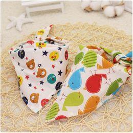 $enCountryForm.capitalKeyWord Australia - Cartoon Pattern Child Mouth Towel Cotton Pet Tie Baby Bib Cotton Triangular Scarf More Color Antifouling Dog Design 1 19dmC1
