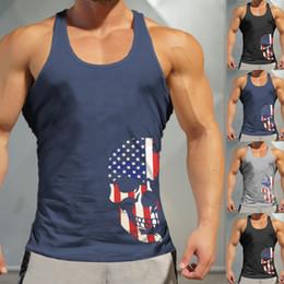 $enCountryForm.capitalKeyWord NZ - Fashion Men's Round Collar Slim American Flag Independence Day Cranial Head Sexy Print Sports Sleeveless Shirt T-Shirt Vest @35