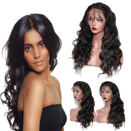 Cheap body wave wigs online shopping - cheap natural kinky straight brazilian human hair lace front wig with baby hair virgin human hair wig lace front