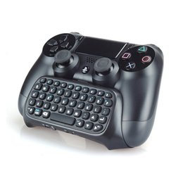 playstation keyboards Australia - Gamepad bluetooth wireless keyboard connects to any version of the PS4 controller, and offers easy to use text chat while maintaining gamin