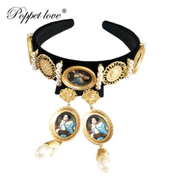 Discount royal hair color - Royal Retro Gold Color Crown Coin Headband Hairband For Women Wedding Hair Accessories Headpieces Jewelry
