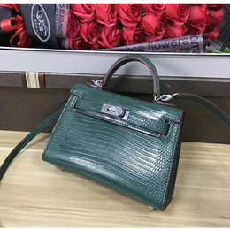 $enCountryForm.capitalKeyWord Australia - Elegant2019 Kim Classic Kylie Mini Mini- Lizard Grain Cowhide Single Shoulder Span Ma'am Bag