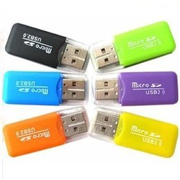 sd memory card wholesale NZ - Electronics dedicated 2017Wholesale mobile phone memory card reader TF card reader small multi-purpose high-speed USB SD Card Reader