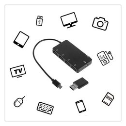 Tablet Chargers For Sale Australia - Micro USB OTG Hub Power Charging Adapter Cable Hot Sale 4 Port Charging Adapter Cable for Windows Tablet Android Smartphone PC