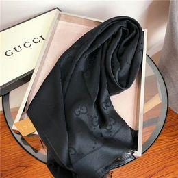 $enCountryForm.capitalKeyWord NZ - Wholesale elegant lady silk and cotton scarf brand designer scarf shawl simple letter scarf size 180*70cm without box