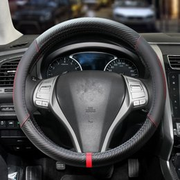 Teana accessories online shopping - quality leather car steering wheel cover Four seasons universal Accessories for Sylphy TEANA TIIDA SUNNY qashqai X TRAIL