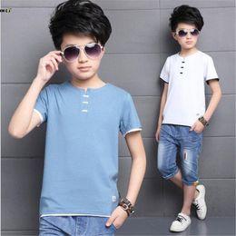 Kids Green T Shirt Australia - J190529Summer T Shirt For Boy Casual Children Clothing Short Sleeve Cotton Boys Tops 2018 Kids T Shirts 5 6 7 8 9 10 11 12 Years J190529