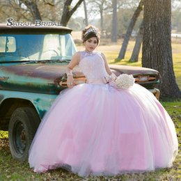light pink gold quinceanera dresses Australia - 2020 Pink Evening Dress Quinceanera Dresses Party Ball Gown Elegant Tulle Skirt Appliques Beaded Bow Top