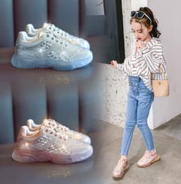 $enCountryForm.capitalKeyWord NZ - Shining kids sneakers girls rhinestones princess shoes children crystal bottom outdoor shoes fashion kids non-slip running shoes F6280