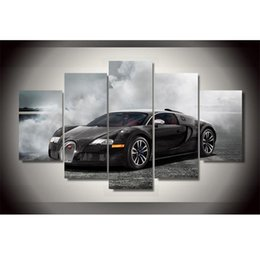 $enCountryForm.capitalKeyWord NZ - sang noir car,5 Pieces HD Canvas Printing New Home Decoration Art Painting Unframed Framed