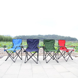Seat beach online shopping - Folding Camping Arm Chair With Cup Holder Outdoor Foldable Fold Up Seat Deck Fishing Beach Chair Outdoor chair MMA2261