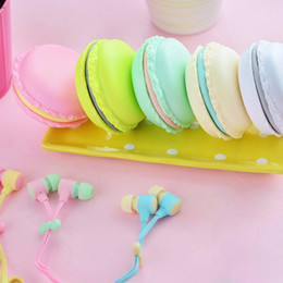 cute earphones for iphone Australia - Cute Macaron Earphones In-Ear Earphone 3.5mm Headset With Cute Macaron Case For Xiaomi Samsung Sony Iphone Mobile Phone